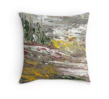 Landscape via la Knife Throw Pillow