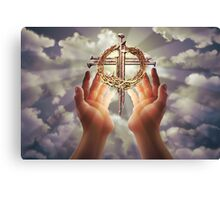 Jesus Heavenly Cross Canvas Print