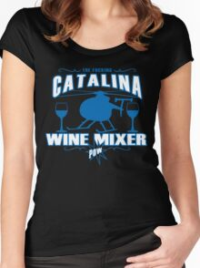 THE FUCKING CATALINA WINE MIXER POW Funny Geek Nerd Women's Fitted Scoop T-Shirt
