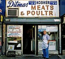 STORE FRONT: The Disappearing Face Of New York: DITMAS Kosher Meats & Poultry by James and Karla Murray