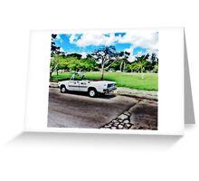 Cuban Taxi Greeting Card