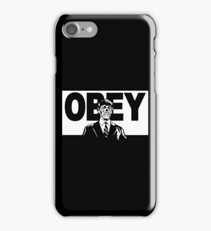 They Live Obey Rowdy Roddy Piper Cult Funny Geek Nerd iPhone Case/Skin