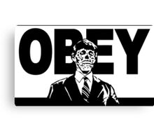They Live Obey Rowdy Roddy Piper Cult Funny Geek Nerd Canvas Print