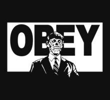 They Live Obey Rowdy Roddy Piper Cult Funny Geek Nerd by utomo