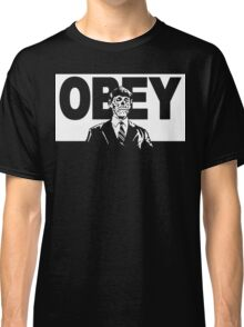 They Live Obey Rowdy Roddy Piper Cult Funny Geek Nerd Classic T-Shirt