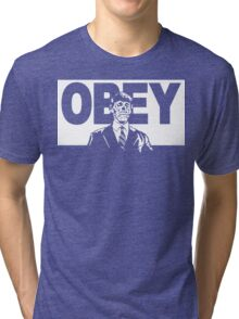 They Live Obey Rowdy Roddy Piper Cult Funny Geek Nerd Tri-blend T-Shirt