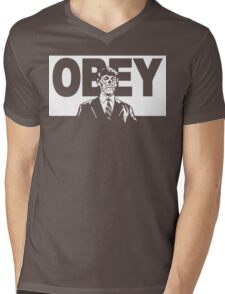 They Live Obey Rowdy Roddy Piper Cult Funny Geek Nerd Mens V-Neck T-Shirt