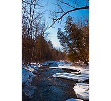 Winter on Sixteen Mile Creek, Milton Ontario, Canada Photographic Print