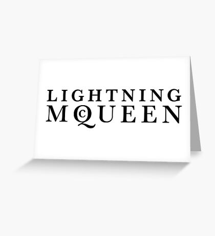 Lightning McQueen Greeting Card