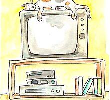 TV Cat by Tama Blough