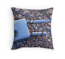 In the Gravel ( two different textures ) Throw Pillow