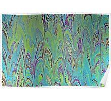 Palm Water Marbling Pattern Poster