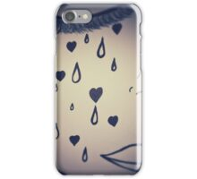 Crying Girl in Black and White by Pauline Campos iPhone Case/Skin