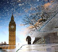 big ben and winston churchill, a reflection by photogenic