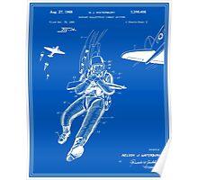 Combat Suit Patent - Blueprint Poster