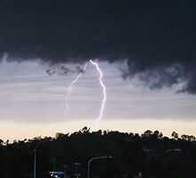 Lightning at Jones Hill by Jenelle  Irvine