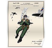 Combat Suit Patent - Colour Poster