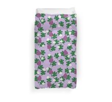 Purple Blooms and Daisies Duvet Cover
