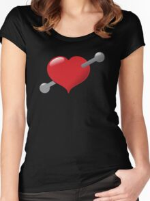 A pierced heart Women's Fitted Scoop T-Shirt