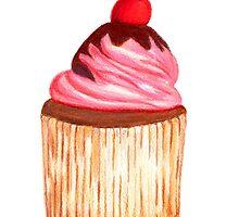 Chocolate Cherry Cupcake by janesapple