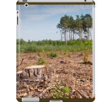 Woods logging one stump iPad Case/Skin
