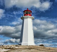 Peggy's Cove Lighthouse, Nova Scotia by Amanda White