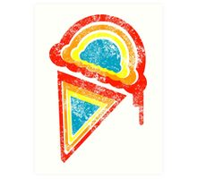 retro rainbow ice cream Art Print