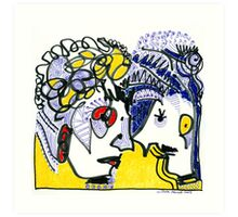 Loving couple Art Print