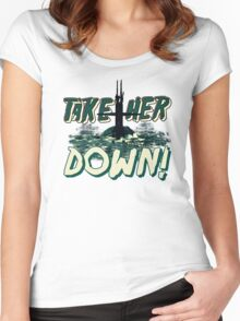 Take Her Down Women's Fitted Scoop T-Shirt