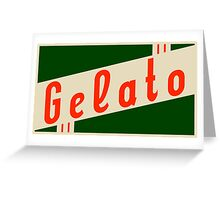 retro gelato Greeting Card