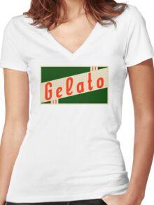 retro gelato Women's Fitted V-Neck T-Shirt