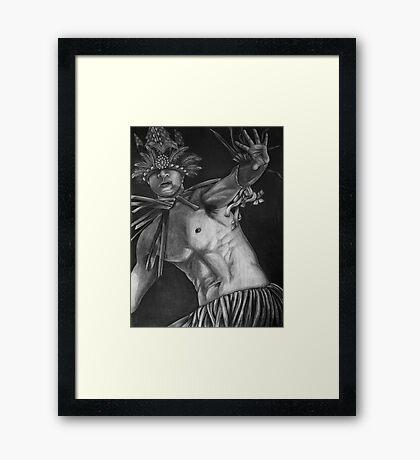 Jipwuki Paranno War Dancer - Mwoakilloa, Micronesia Framed Print