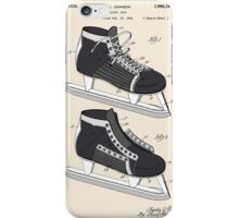Hockey Skate Patent - Colour iPhone Case/Skin