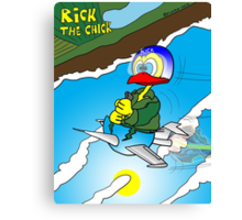 """Rick the chick """"SOUND BARRIER"""" Canvas Print"""
