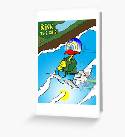 "Rick the chick ""SOUND BARRIER"" Greeting Card"