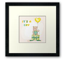 Baby Shower or Arrival Card Framed Print