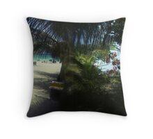 beach view Throw Pillow