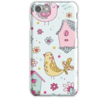 Cute Birds and Birds Houses iPhone Case/Skin