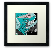 Shark Islands Framed Print