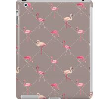 Flamingo Bird Retro Background iPad Case/Skin