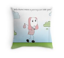 Sheepy's Walk Throw Pillow