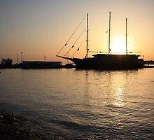 Mediterranean Sunset ... on a Greek Island :) by BettinaSchwarz