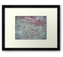 Patina Wall Framed Print