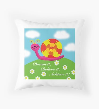 Snail - Hannah Walter Throw Pillow