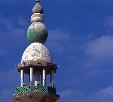 Minaret on wayside Mosque. Saudi Arabia. by Peter Stephenson