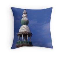 Minaret on wayside Mosque. Saudi Arabia. Throw Pillow