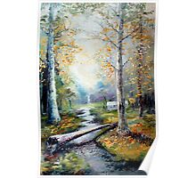 Leaving the Woodland Creek Poster