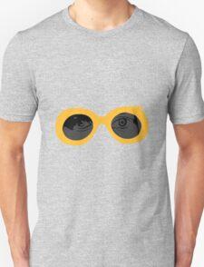 Yellow Retro Glasses Unisex T-Shirt