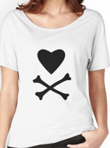 Heart and Cross Bones Women's Relaxed Fit T-Shirt