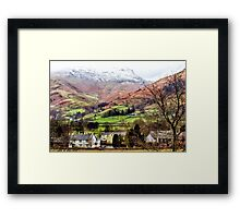 Snow Topped Fells Framed Print